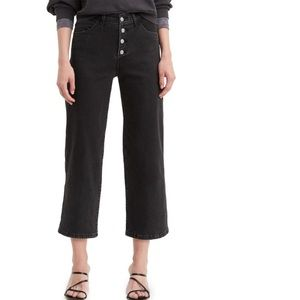 Levi's Mile High Button Fly Crop Flare Jeans